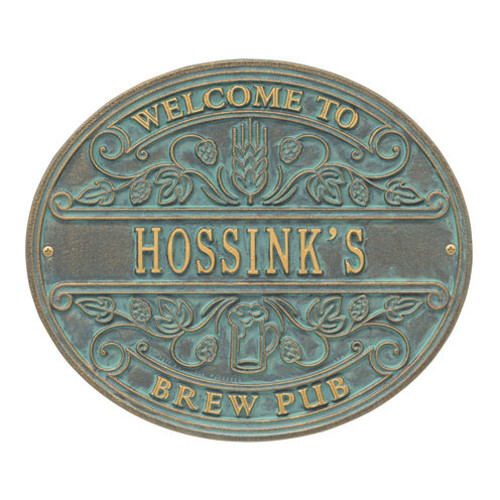 Whitehall Brew Pub Welcome Plaque - Standard Wall1-line