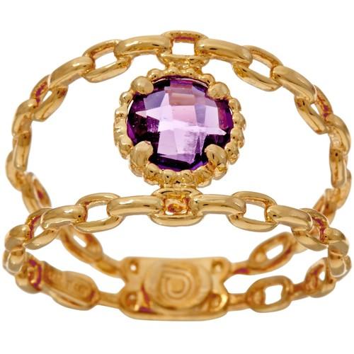 Italian Gold Gemstone Curb Link Ring, 14K G