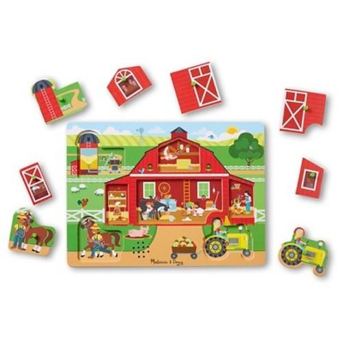 Melissa & Doug Around the Farm Sound Puzzle 8pc