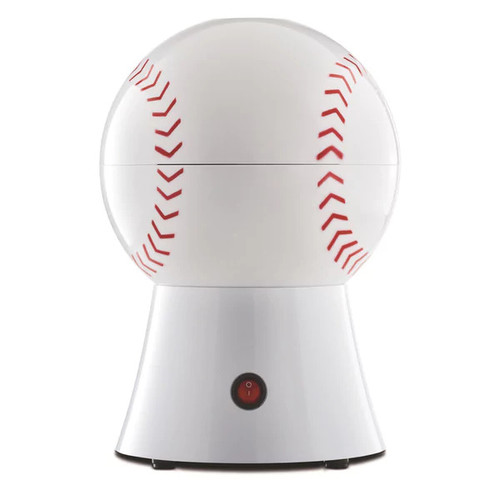 Brentwood - 12-Cup (PC-485) Baseball Popcorn Maker - White