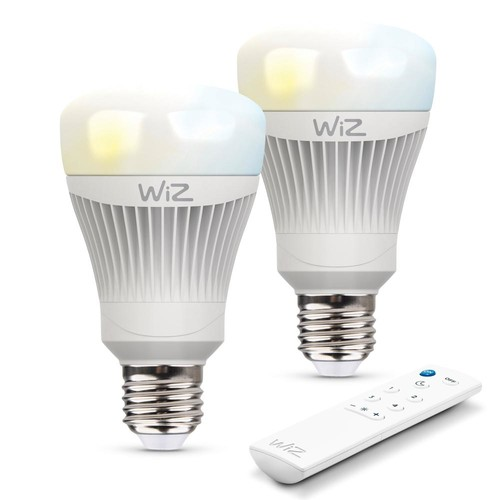WiZ 60W Equivalent A19 Tunable white Wi-Fi Connected Smart LED Light Bulbs (2-Pack)