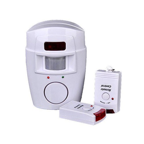 IR Infrared Security Alarm with motion detection alarm detector Radio 2 remote controls