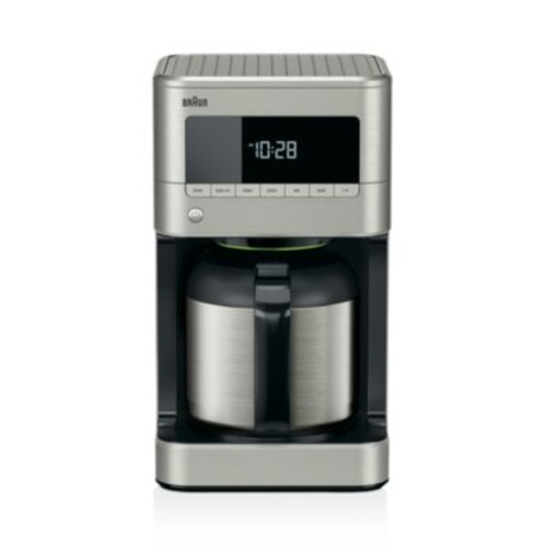 BrewSense Stainless Steel 10c Thermal Carafe Drip Coffee Maker with PureFlavor System