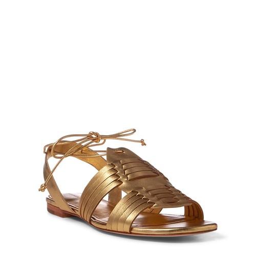 Jaida Metallic Leather Sandal