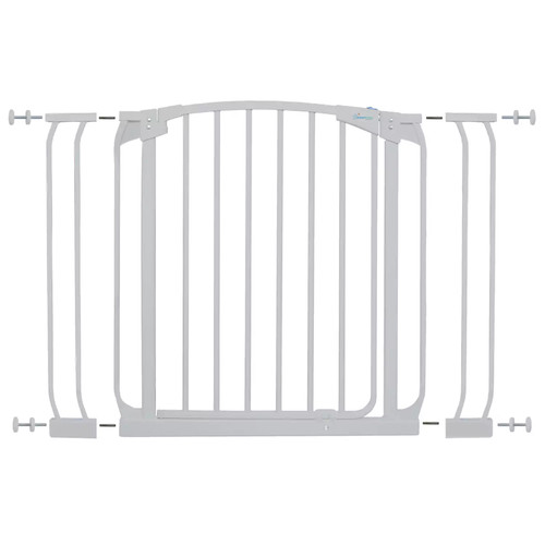 Dreambaby Chelsea 29.5 in. H Standard Height Auto-Close Security Gate in White with Extensions