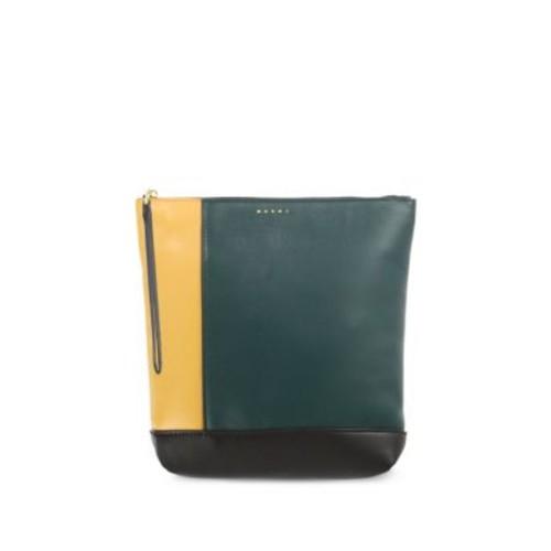 MARNI Tricolor Leather Bundle Clutch