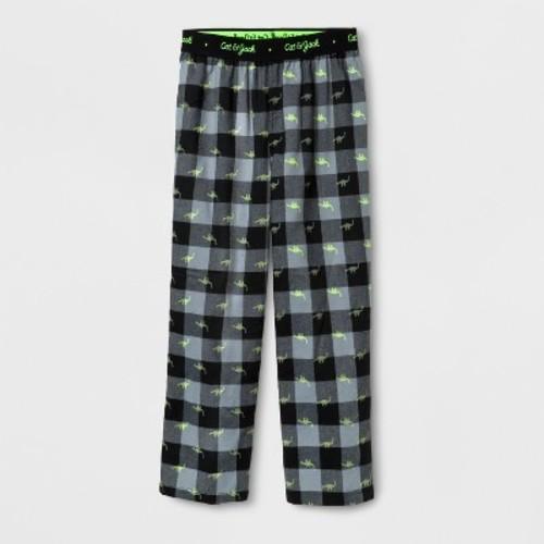 Boys' Dino Plaid Pajama Pants - Cat & Jack Black