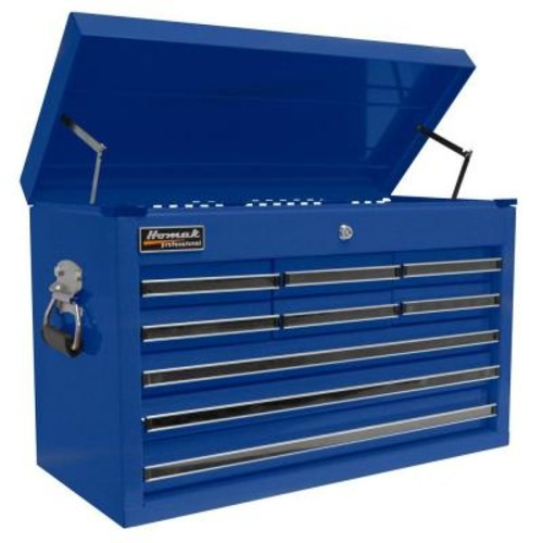 Homak Professional 27 in. 9-Drawer Top Chest, Blue