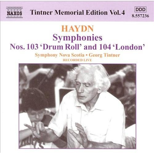 Haydn: Symphonies Nos. 103 'Drum Roll' and 104 'London' [CD]