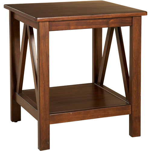 Linon Home Decor Titian Antique End Table [Antique Tobacco]