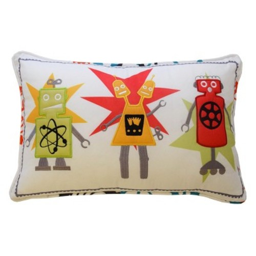 Robotic Embroidered Throw Pillow (12
