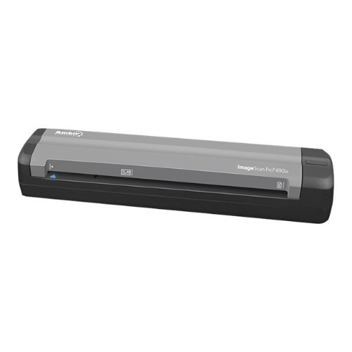 Ambir Technology ImageScan Pro 490ix - Sheetfed scanner - Duplex - 8.5 in x 36 in - 600 dpi - up to 100 scans per day - USB 2.0 (DS490IX-PRO)