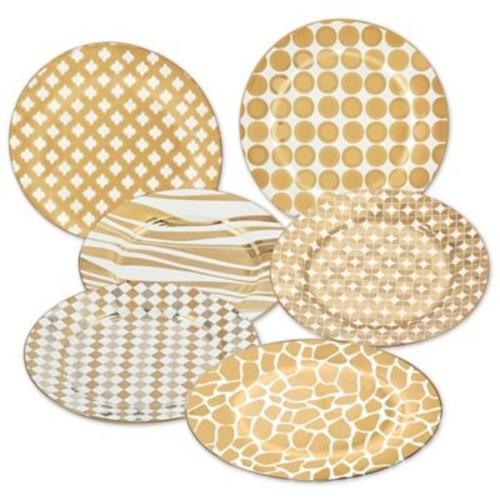 Certified International Elegance Gold Barrel Dessert Plates (Set of 6)