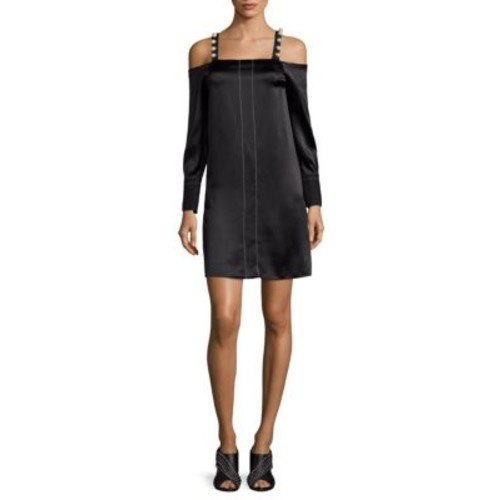 3.1 PHILLIP LIM Pearly Cold-Shoulder Silk Dress