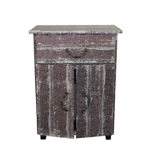 Essential Decor & Beyond Wooden 2 Door 1 Drawer Accent Cabinet