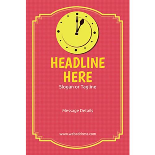 Custom Poster, Lunch Clock, Vertical