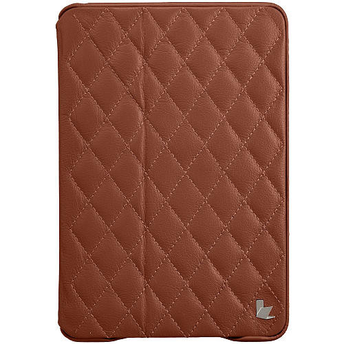 Quilted Smart Cover Case for Ipad Mini - Brown