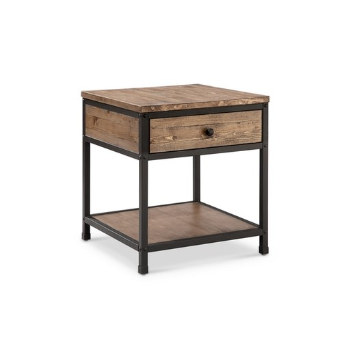Magnussen Home Furnishings Coffee, Console, Sofa & End Tables Maguire Rustic Weathered Barley Storage End Table