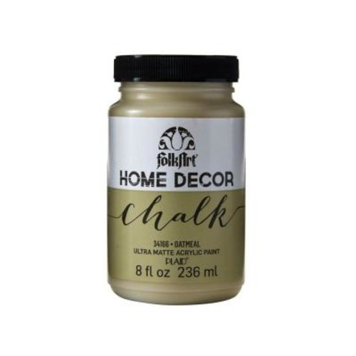 FolkArt Home Decor 8 oz. Oatmeal Ultra-Matte Chalk Finish Paint