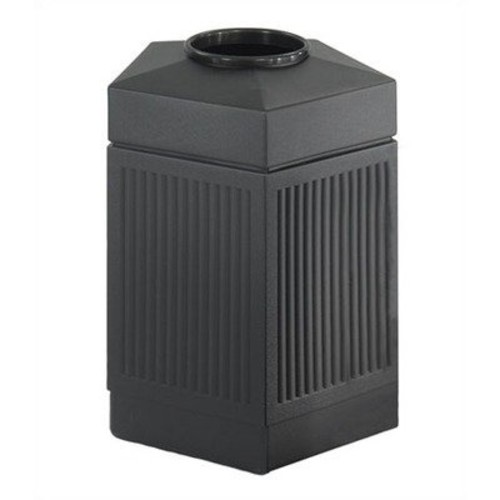 Safco Products 9486BL Canmeleon Indoor/Outdoor Waste Receptacle, Pentagon, 45-Gallon, Black [Black]