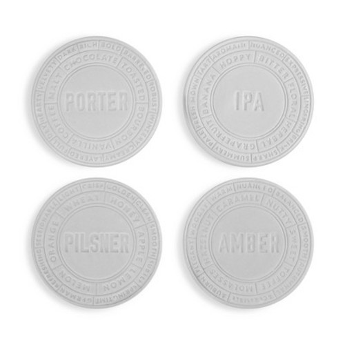 true Ceramic Beer Coaster Set - Silver