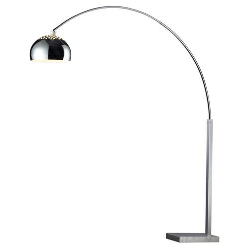 Penbrook Arc Floor Lamp, Chrome