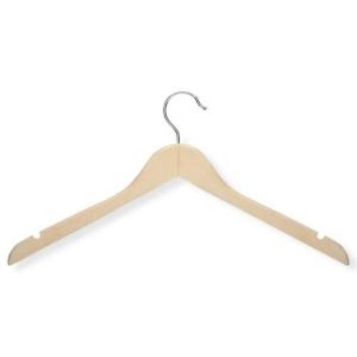 Honey-Can-Do Maple Finish Basic Shirt Hanger (20-Pack)