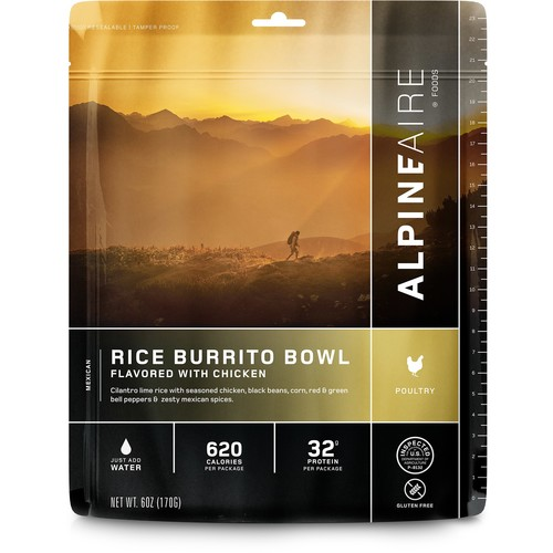 Alpine Aire Foods 60453 Chicken & Rice Burrito Bowl Serves 2