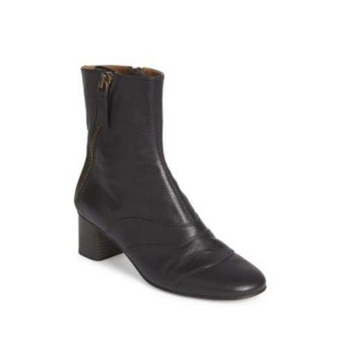 CHLOÉ Lexie Zipper Leather Booties