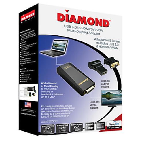 Diamond USB 3.0 to DVI/HDMI/VGA Adapter, UGA3500OS