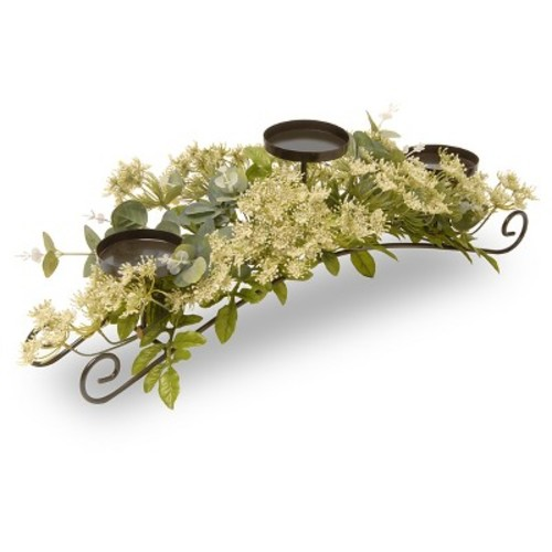 National Tree Company 25in Dill Blossom 3 Candle Holder