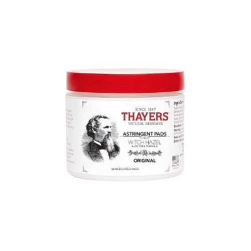 Thayers Original Witch Hazel Astringent Pads with Aloe Vera Formula, 60 Count [60 units]