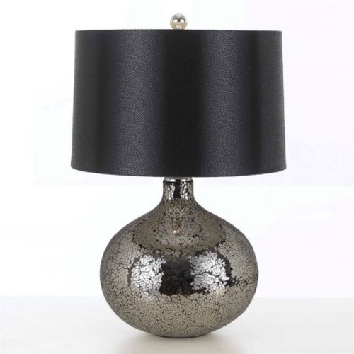 AF Lighting Mirage 23 in. Mosaic Mirror Table Lamp
