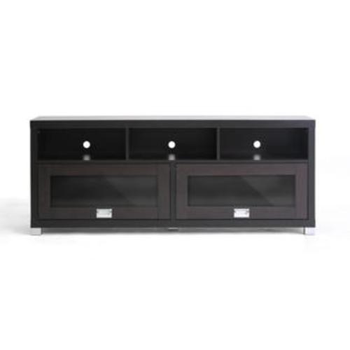 Wholesale Interiors FTV-885 Swindon Modern TV Stand with Glass Doors