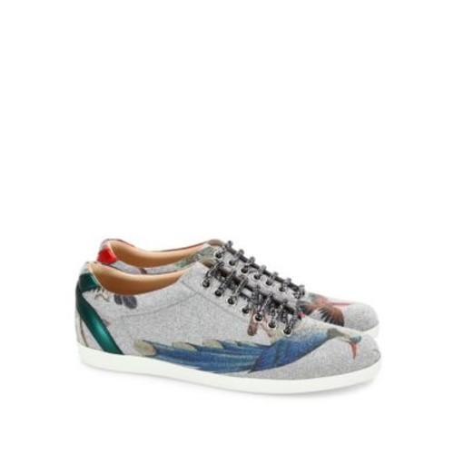 GUCCI Bambi Tian-Print Glitter Sneakers