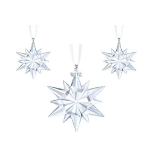 Swarovski 2017 Annual Edition Christmas Star Ornaments (Set of 3)