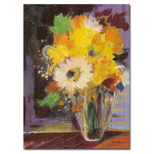 Trademark Global Sheila Golden 'Glass Vase' Canvas Art [Overall Dimensions : 24x32]