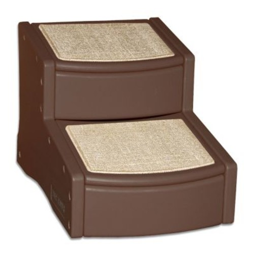 Pet Gear Easy Step II Pet Stairs, 2-step/for Cats and Dogs up to 150-pounds [Chocolate, 2-Step]