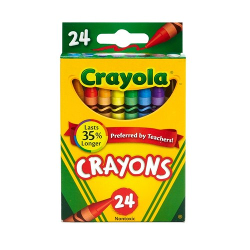 Crayola Crayon Box, Assorted Colors, Pack Of 24