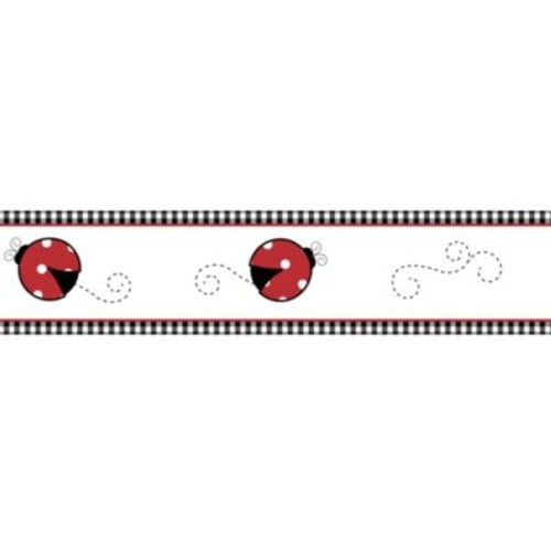 Sweet Jojo Designs Polka Dot Ladybug Wallpaper Border