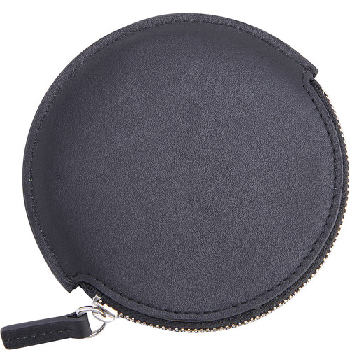 Royce Leather Leather Circular Earbud Travel Case