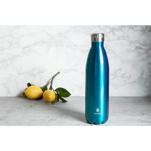 Manna Vogue 25 oz. Teal Vacuum Bottle