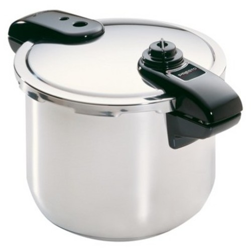 Presto - 8-Quart stainless steel Pressure Cooker - Stainless steel