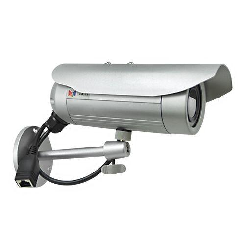 ACTI E32A - Network surveillance camera - outdoor - vandal / weatherproof - color ( Day&Night ) - 3 MP - 2048 x 1536 - 1080p - fixed focal - 1350 TVL - 10/100 - MJPEG, H.264 - PoE Class (E32A)