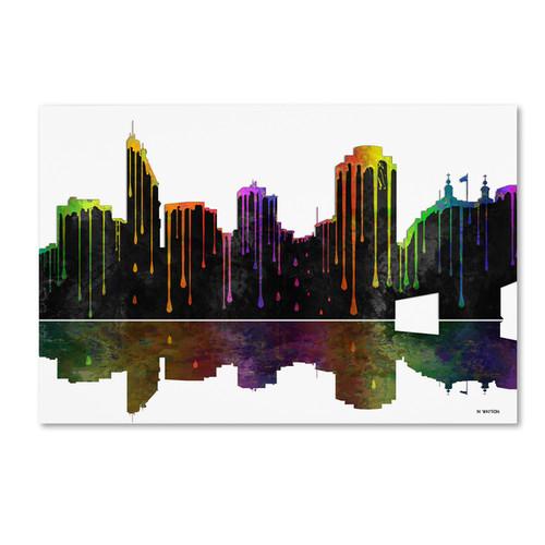 Marlene Watson 'Cincinatti Ohio Skyline 2' Canvas Art - Multi