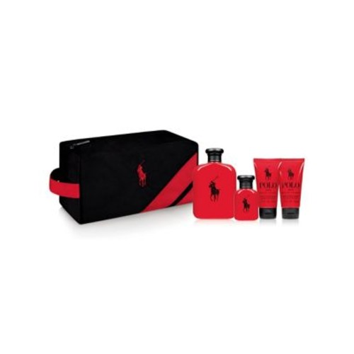 Four-Piece Red Travel Kit Gift Set- $157.00 Value