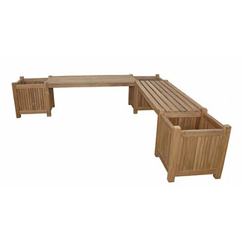 Planter Bench, Natural