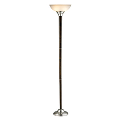 Adesso Alta Floor Lamp, Walnut