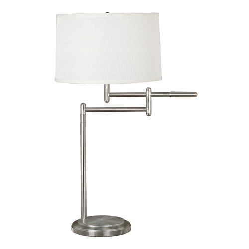 Kenroy Home 20940BS Theta Swing Arm Table Lamp, Brushed Steel [Brushed Steel Finish]