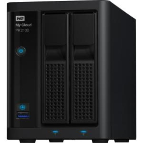 WD My Cloud Pro Series PR2100 Diskless NAS Media Server with Transcoding WDBBCL0000NBK-NESN